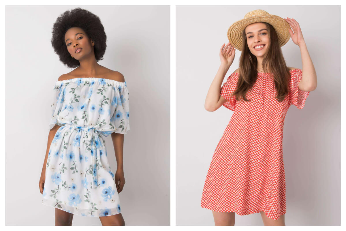Rozkloszowane sukienki na lato we wzory