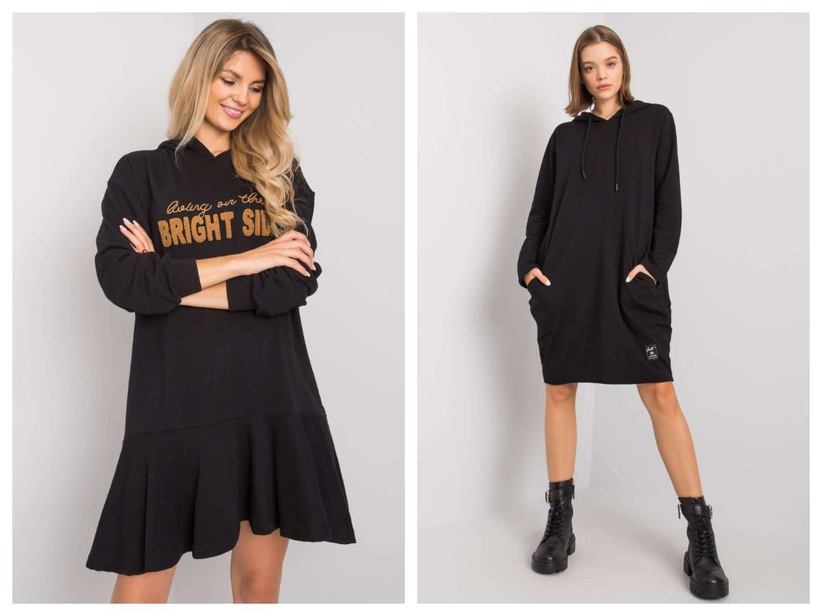 Stylowe sukienki dresowe z nadrukiem