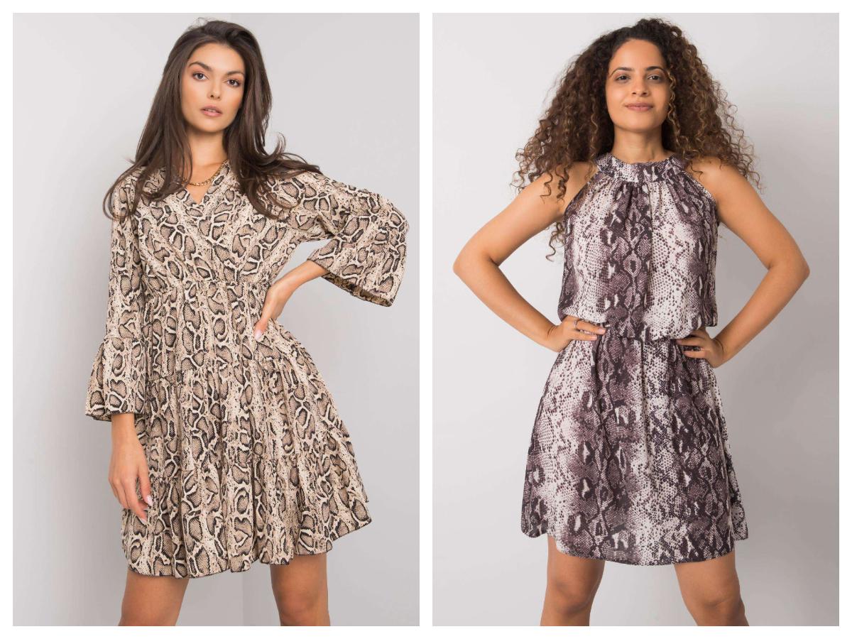 Sukienka w zwierzęce wzory midi